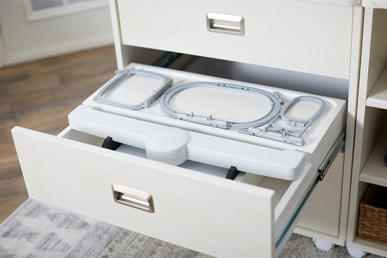 Koala Cabinets Bernina Caddy embroidery hoop and module storage